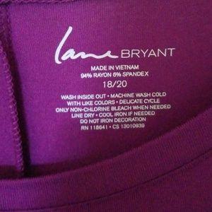 Lane Bryant Tops - LANE BRYANT NWOT MAGENTA TOP SIZE 18/20
